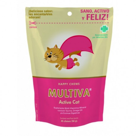 MULTIVA  ACTIVE CAT 45 CHEWS